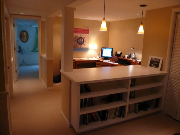 unfinished basement into a bedroom office entertainment area bath
